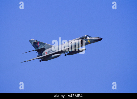 French Navy Dassault Breguet Super Etendard carrier borne strike fighter aircraft - Stock Photo