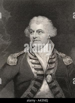 Alan Gardner 1st Baron Gardner 1742 to 1809 British Admiral - Stock Photo