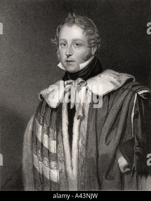 John Talbot,16th Earl of Shrewsbury,  16th Earl of Waterford, 1791 - 1852.  British peer and aristocrat. - Stock Photo