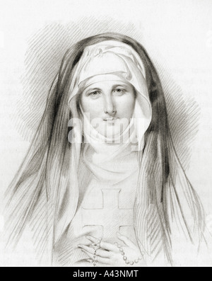 Jane Porter 1776 to 1850 English novelist and sister of Anna Maria Porter - Stock Photo
