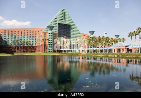 Entrance to Dolphin Resort at Walt Disney World, Florida, USA - Stock Photo