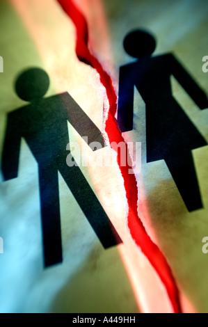 Man woman divorce concept - Stock Photo