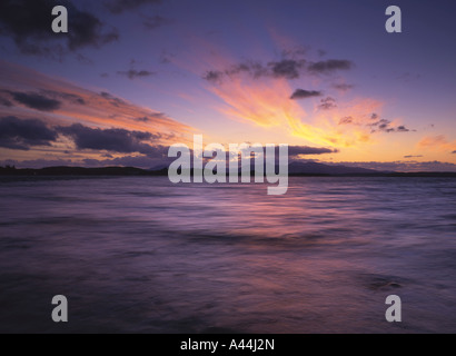 Sunset over Mull from Connel Bay, Argyll - Stock Photo
