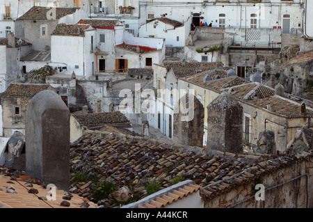 Buildings of Monte Sant'Angelo, Italy - Stock Photo