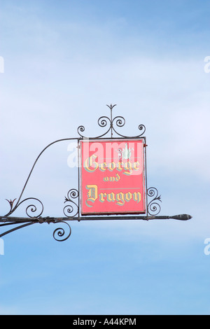 Pub sign above the George and Dragon Public House Tarring Village Worthing West Sussex - Stock Photo