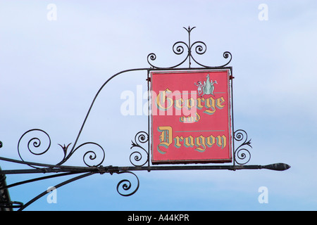 Pub sign above the George and Dragon Public House, Tarring Village, Worthing, West Sussex. - Stock Photo