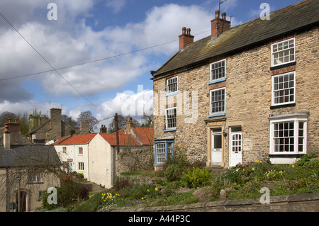 Richmond North Yorkshire off Bridge Street - Stock Photo