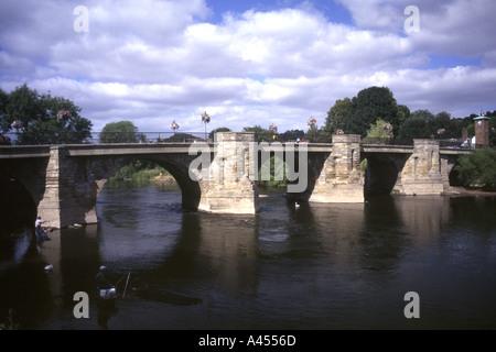 River Seven and Bridge Bridgenorth Shropshire Salop England UK Europe - Stock Photo