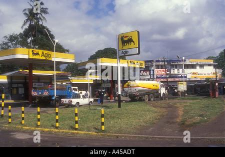 Agip Gas petrol filling station Mombasa Kenya coast East Africa - Stock Photo