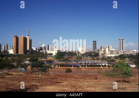 Nairobi City skyline seen from Upper Hill Nairobi Kenya East Africa - Stock Photo