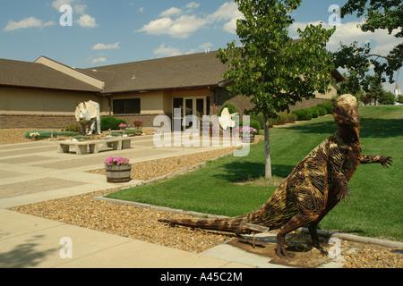 AJD57311, Dickinson, ND, North Dakota, Dakota Dinosaur Museum - Stock Photo
