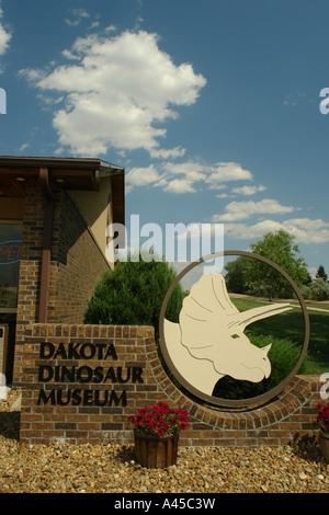 AJD57316, Dickinson, ND, North Dakota, Dakota Dinosaur Museum - Stock Photo
