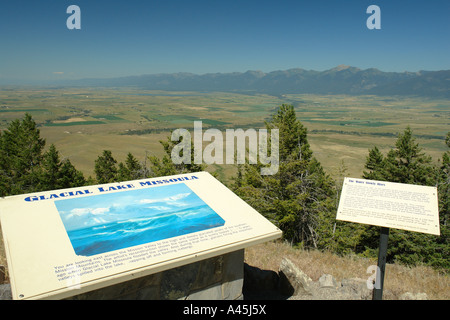 AJD56481, Moiese, MT, Montana, Headquarters National Bison Range, Flathead Indian Reservation, Mission Valley, overlook - Stock Photo