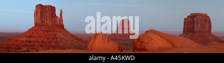 Panoramic photo of Monument Valley Navajo Tribal Park at sunset Arizona - Stock Photo