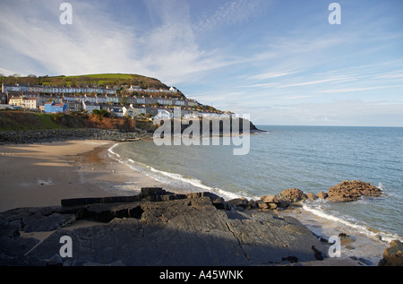 New Quay Village in West Wales UK - Stock Photo