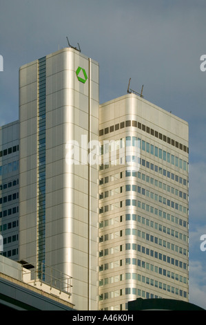 Headquarters of the Dresdner Bank in Frankfurt on the Main, Germany - Stock Photo