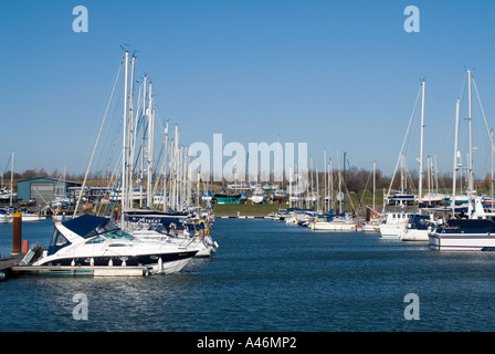 Burnham On Crouch general view of the marina - Stock Photo
