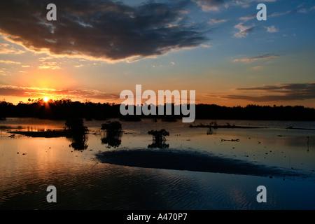 Dramatic sunset Cayo Guillermo Cuba - Stock Photo
