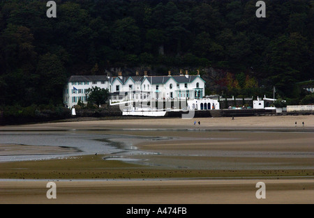 View of the Hotel at the Village of Portmeirion, Gwynedd, North Wales, United Kingdom - Stock Photo