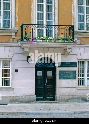 Birthplace of Marie Curie Warsaw Poland - Stock Photo