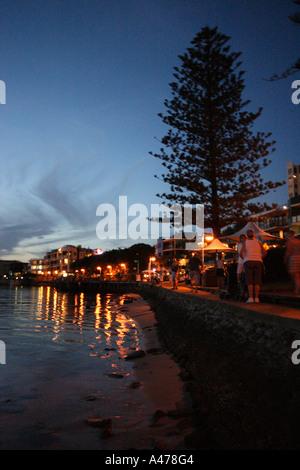 STUNNING SUNSET AT THE BOARDWALK CALOUNDRA SUNSHINE COAST QUEENSLAND AUSTRALIA - Stock Photo