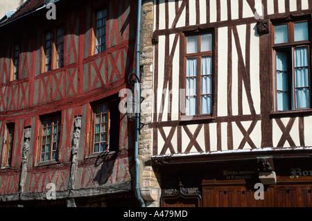 Timber-framed house Dijon - Stock Photo