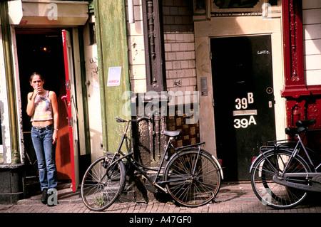 amsterdam street scene - Stock Photo