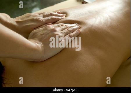 Woman having a massage - Stock Photo