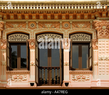 Traditional Peranakan shophouse, Kampong Glam, Singapore - Stock Photo