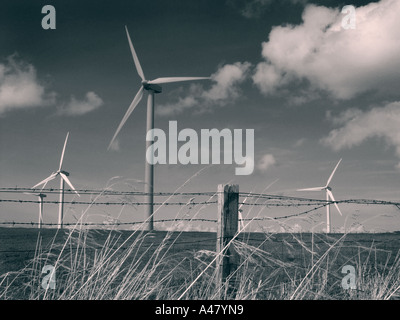 wind turbines, lake district, cumbria, england, on the road to whitehaven - Stock Photo