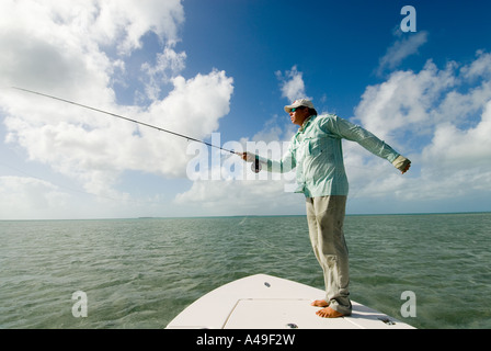 Fly fisherman in the florida keys stock photo royalty for Fly fish usa