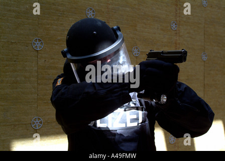 Member of a German SWAT Team - Stock Photo