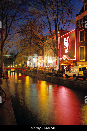 Red Light District, Amsterdam, Holland - Stock Photo
