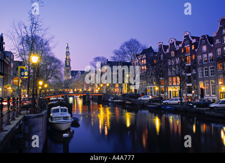 Prinsengracht, Amsterdam, Holland - Stock Photo