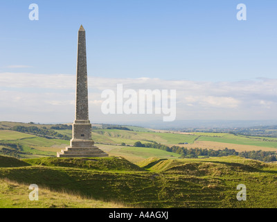 Lansdowne Monument Cherhill Wiltshire UK - Stock Photo