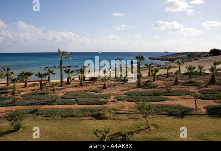 Beach View in Ayia Napa Cyprus - Stock Photo