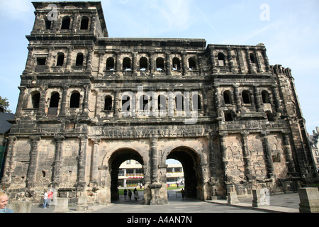 Porta Nigra in Germany Trier UNESCO World Cultural Heritage, Germany's oldest city. - Stock Photo