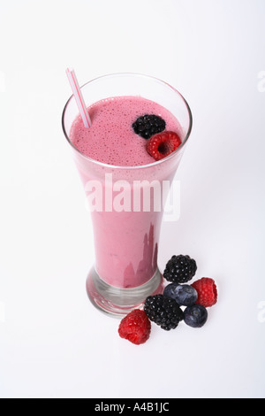 berry flavored smoothie - Stock Photo