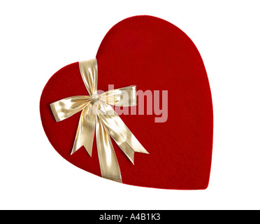 Heart Shaped Box of Valentines Day Chocolates - Stock Photo