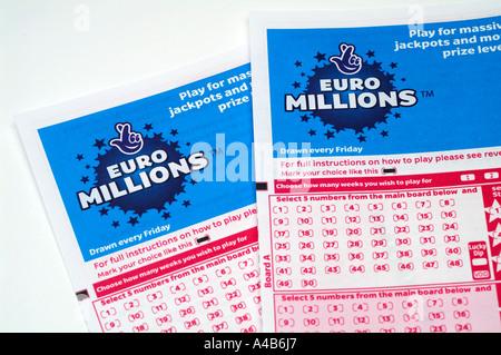 Uk National Lottery Game Cards, Slips Stock Photo, Royalty ...