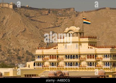 Stock image of Jaipur City Palace or Chandra Mahal or Moon Palace - Stock Photo