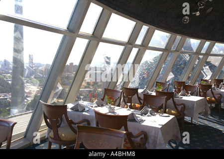 Kuwait - Kuwaiti Towers main restaurant with views over the City - Stock Photo