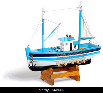 Wooden Boat on stand. Picture by Patrick Steel. patricksteel - Stock Photo