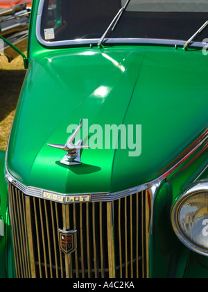 Metallic green Ford V8 Pilot - Stock Photo