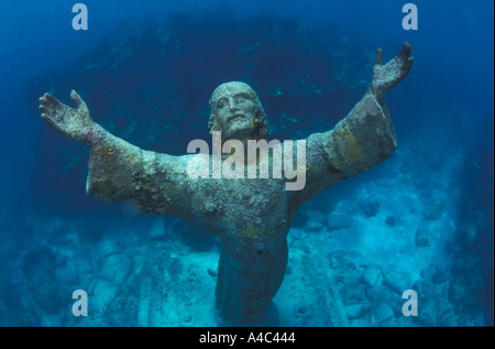 CHRIST OF THE ABYSS STATUE KEY LARGO FLORIDA - Stock Photo