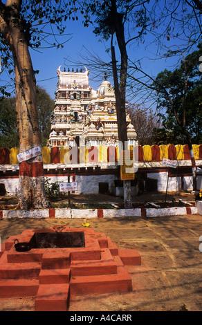 Ganesh Temple Bangalore Karnataka India - Stock Photo