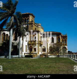 Ca D zan which is the historic Ringling residence in Sarasota in Florida - Stock Photo