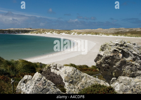 A view of gypsy and yorke bay cove near port stanley in the falkland Islands - Stock Photo