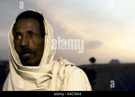 'GEBREMARIAM'S FAMILY', A FAMILY LIVING IN A TWO ROOM HUT IN THE HIGHLANDS OF ERITREA. - Stock Photo