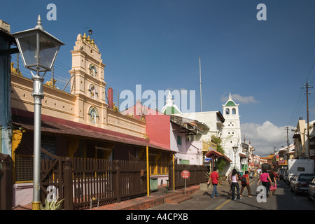 Malaysia Melaka Jalan Tokong Sri Poyyatha Vinayagar Hindu Temple - Stock Photo